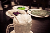 The over-flowing, rich glass of Ayran
